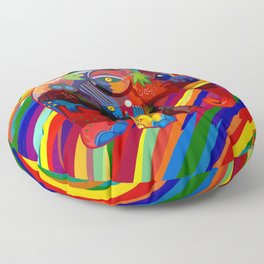 Full Color Abstract Elephant Floor Pillow