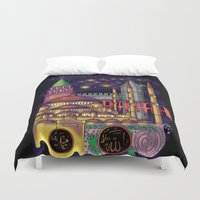 istanbul Duvet Covers featuring Istanbul  by Aleksandra Jevtovic