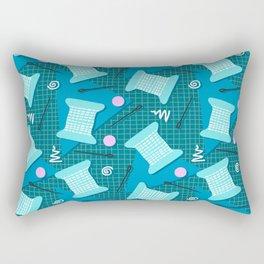 Memphis Sewing in Blue Rectangular Pillow
