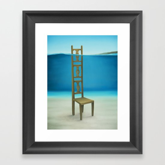 Waiting Place Framed Art Print