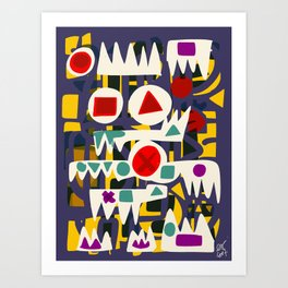 African Abstract Art Pattern  Art Print