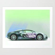 Bugatti Veyron Art Print