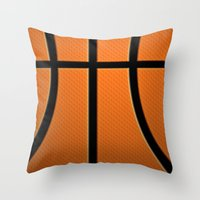 basketball Throw Pillows featuring Basketball by Eye Shutter to Think Photography