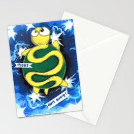 turtle dream walking in the sky Stationery Cards