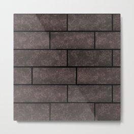 Brick wall, brick #stone #stonewall #loft Metal Print