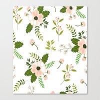 flower pattern Canvas Prints featuring Flower Pattern by Jenna Davis Designs