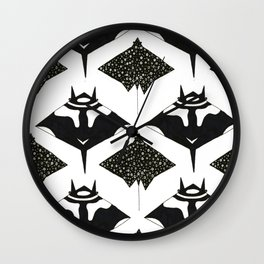 mantas and spotted eagle rays Wall Clock