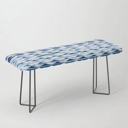 Glitch Waves - Classic Blue Bench
