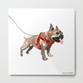 watercolor dog vol 5 french bulldog Metal Print
