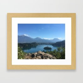 Lake Bled View Framed Art Print