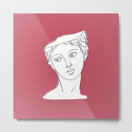 Ancient Head Statue Illustration #2 Metal Print