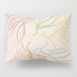Pastel Coloured Feather Print Pillow Sham