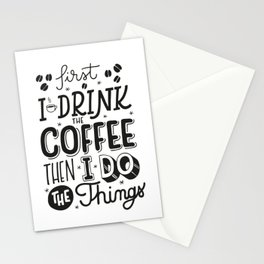 First Coffee Stationery Cards