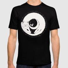 cats life: dreaming MEDIUM Black Mens Fitted Tee