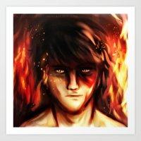zuko Art Prints featuring Fire Lord Zuko by malfunction321