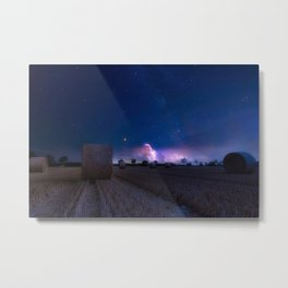 Summer Storm in the Distance Metal Print