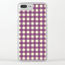 EGGPLANT CHECK Clear iPhone Case