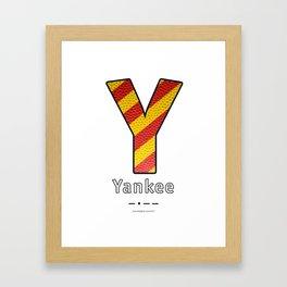 Yankee - Navy Code Framed Art Print
