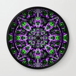 Amethyst Portal Mandala Wall Clock