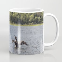 A Common Loon Fishing in the Summer Coffee Mug