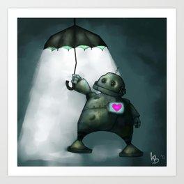 Heartbot Art Print