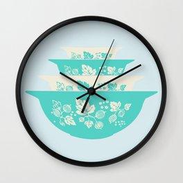 JAJ Pyrex Turquoise Gooseberry Stack Wall Clock