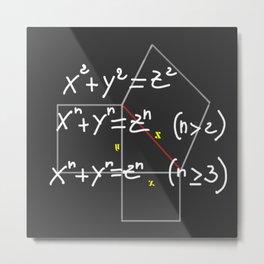 mathematical formula Metal Print