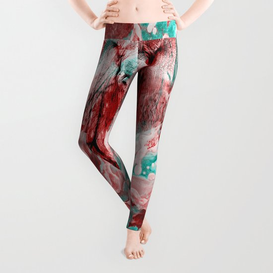 Elephant's Noisy Cries Leggings