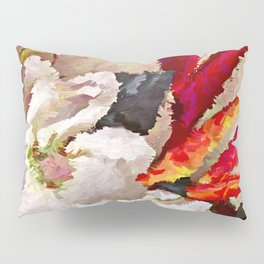 Tropical Flowers Abstract Pillow Sham