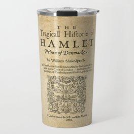 Shakespeare, Hamlet 1603 Travel Mug