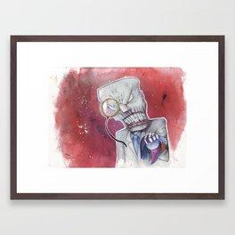 Over Capacity Framed Art Print