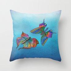 Butterflies and Blue Skies Throw Pillow