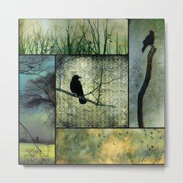 Square Of Crows Metal Print