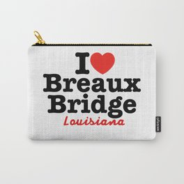 I Heart Breaux Bridge (Light Background) Carry-All Pouch