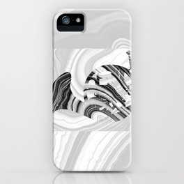 Marbled Music Art - French Horn - Sharon Cummings iPhone Case