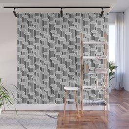 Hexagonal Columns in Grey Wall Mural