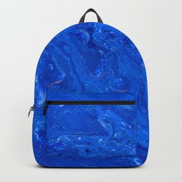 Go Deep - Blue Abstract Acrylic Painting Backpack