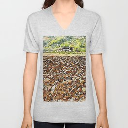 Hortus Conclusus: clods of earth and farmhouse Unisex V-Neck
