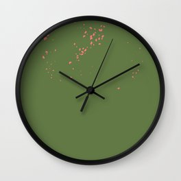 Green hearts Wall Clock