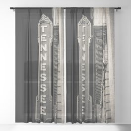 Tennessee Sign Sheer Curtain