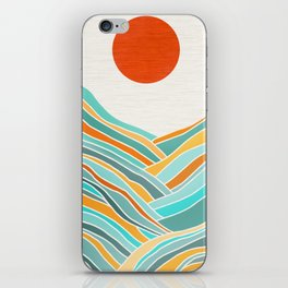 Abstract Sunset Landscape II iPhone Skin