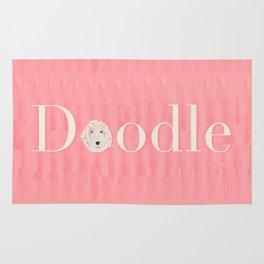 Pink Golden Doodle Rug