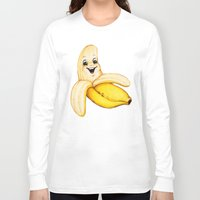 banana Long Sleeve T-shirts featuring Banana by Kelly Gilleran