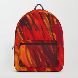 Fire Red Abstract Backpack