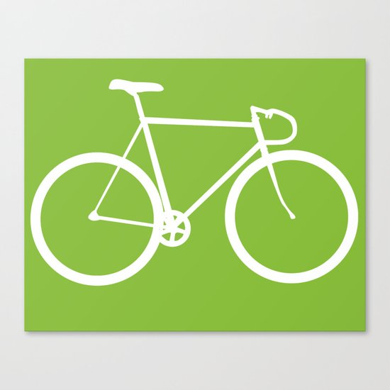 Fixed gear bike Canvas Print