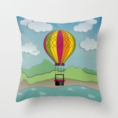 Balloon Aeronautics Sea & Sky Throw Pillow