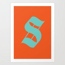 "Character ""S"" Art Print"