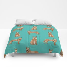 Australian Cattle Dog red heeler love dog breed gifts cattle dogs by pet friendly Comforters