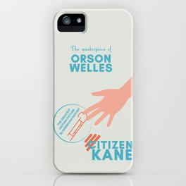 Citizen Kane, minimal movie poster, Orson Welles film, hollywood masterpiece, classic cinema iPhone Case