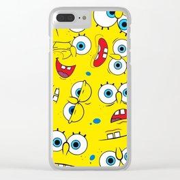 Spongebob Collage Clear iPhone Case